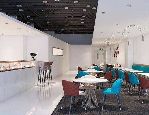 现代, 桌椅组合, 店铺