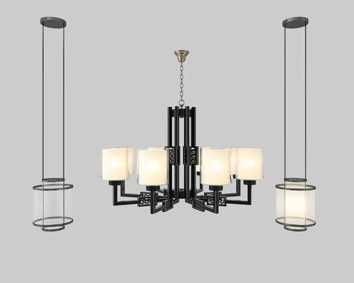 吊灯, 灯, 灯具, 新中式
