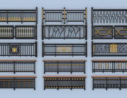 铁艺栏杆, 护栏扶手, 简欧