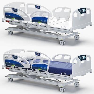 病床设备, 医疗器械, 医院推床, 现代