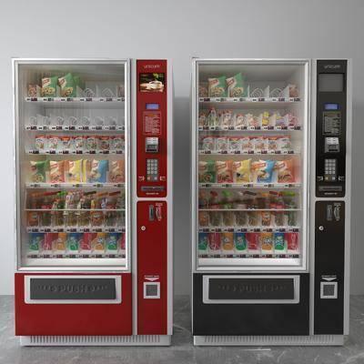 自动售货机, 零食饮料, 现代