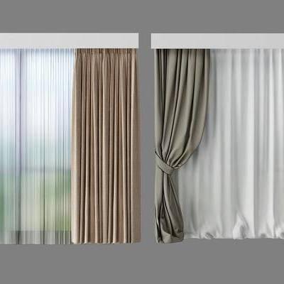 窗帘, 现代窗帘, 现代