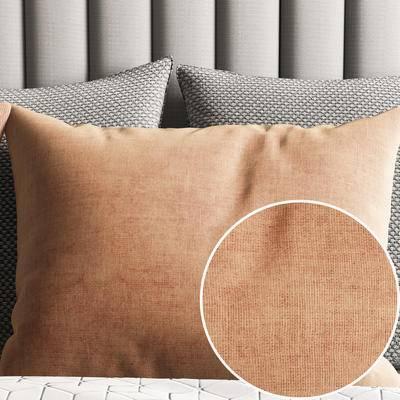 布藝材質, Vray材質, 棕色布藝