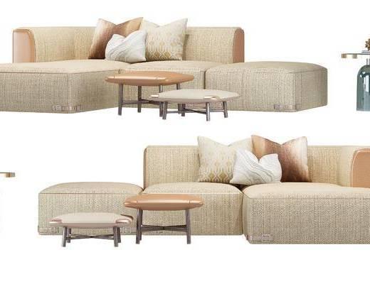 现代, 沙发, 多人沙发, 转角沙发, 边几