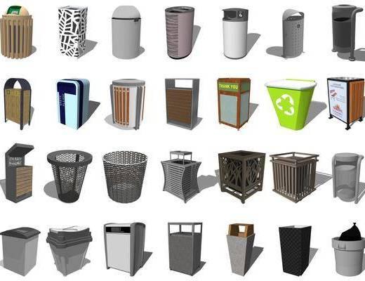 垃圾箱, 分类垃圾桶, 户外垃圾桶