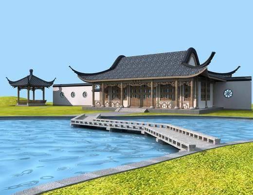 古建公園, 門面門頭, 中式