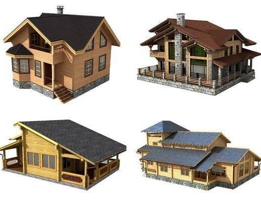 美式木屋, 木屋, 別墅