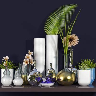 花瓶, 花卉, 盆栽, 植物, 陶瓷花瓶, 现代, 摆件, 陈设品