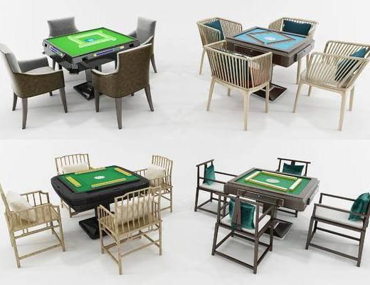 棋牌桌, 麻将桌, 麻将, 牌桌