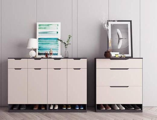 現代, 鞋柜, 邊柜, 柜架