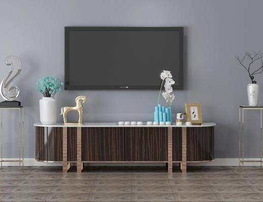 電視柜, 擺件組合, 裝飾柜架