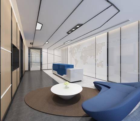 现代公司前台, 茶几, 沙发