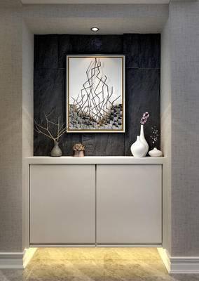玄关, 挂画, 装饰品, 花瓶