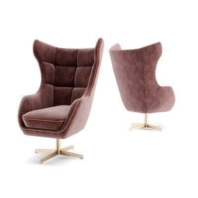 现代, 休闲椅, 天鹅绒, 躺椅, 沙发, 沙发椅