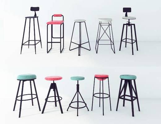 现代, 吧台椅, 组合