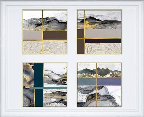 装饰画, 挂画, 组合画, 艺术画, 新中式