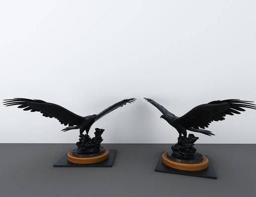 老鹰, 摆件组合, 现代