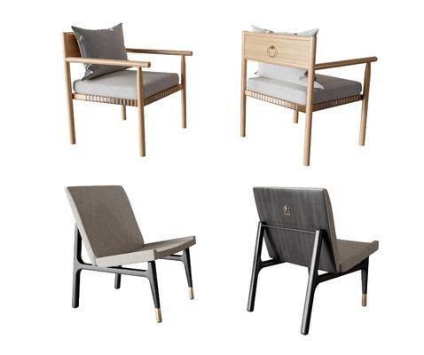 新中式休闲椅组合