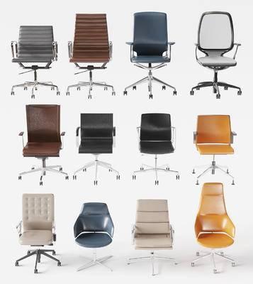 办公椅, 老板椅, 皮质休闲椅, 单椅, 转椅