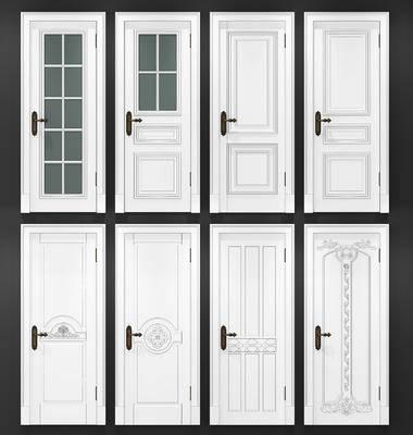 欧式门, 门组合, 构件, 房门