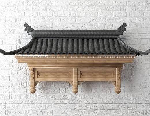 中式屋檐, 中式屋顶, 中式门头