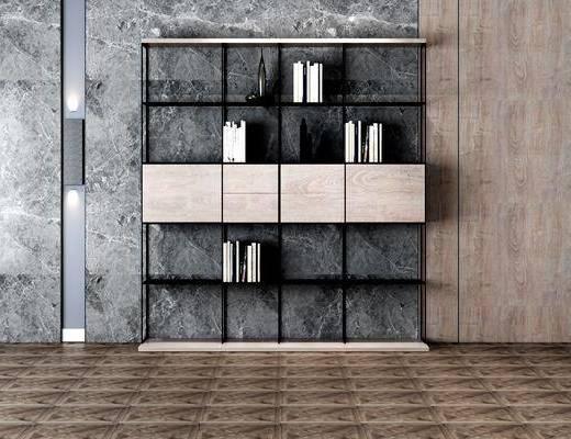 书柜, 装饰架, 书架, 书籍, 工业风