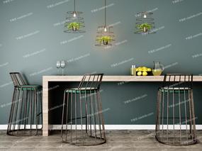 吧台, 吧椅, 吧凳, 吊灯, 桌子, 杯子