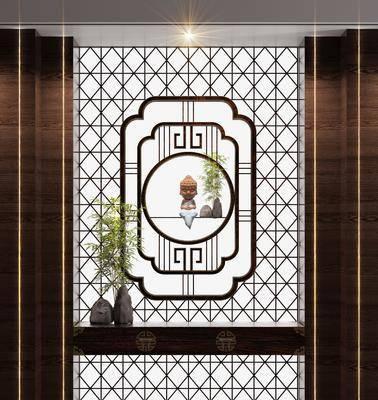玄关, 走廊, 摆件组合