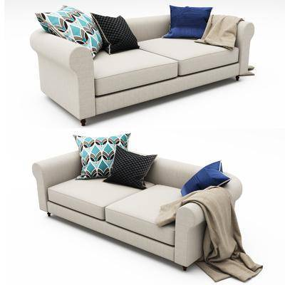 双人沙发, 现代双人沙发, 布艺双人沙发, 现代布艺双人沙发, 现代, 纯色沙发
