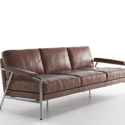 皮革沙发, 多人沙发, 现代皮革多人沙发, 现代