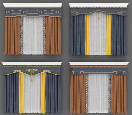 窗帘, 窗帘组合, 布艺窗帘