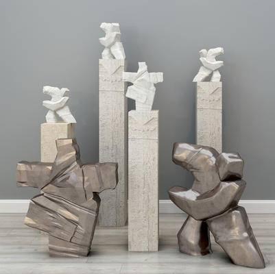 现代摆件, 石头摆件, 雕塑摆件, 雕塑, 石头雕塑, 室外摆件, 装饰品摆件