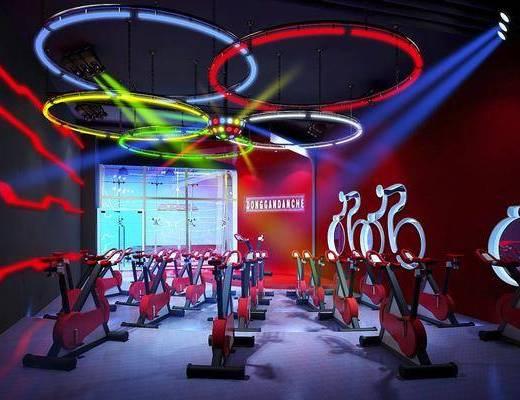 健身场所, 动感单车, 现代