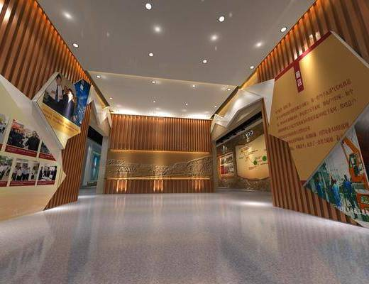 展厅, 现代展厅, 企业展厅, 背景墙, 文化墙, 现代