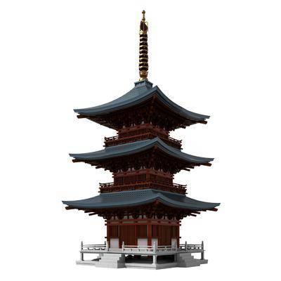 古建, 寺庙, 建筑, 佛塔