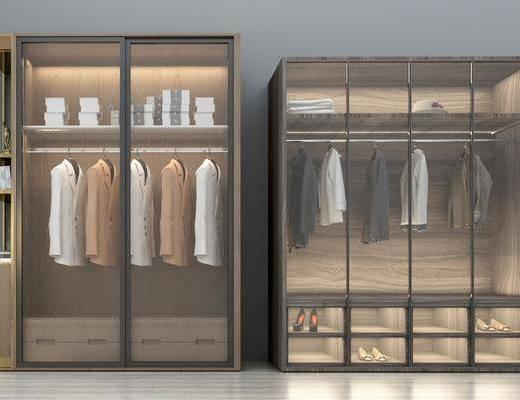 衣柜, 现代衣柜, 衣服