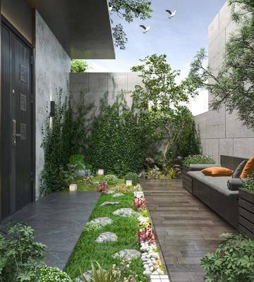 现代花园庭院
