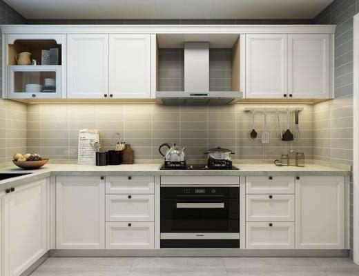 厨房, 橱柜, 厨具, 现代