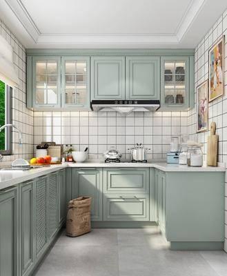 厨房, 厨具组合, 洗手台组合, 简欧