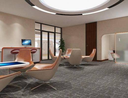 现代银行贵宾室d模型, 银行, 接待区, 贵宾室
