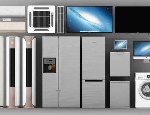 洗衣机, 电器组合, 冰箱, 空调