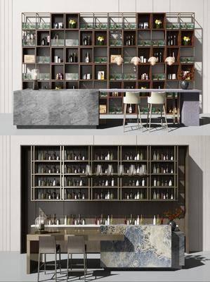 酒柜, 吧台, 单椅, 吧台组合