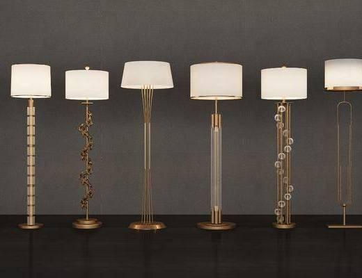 落地灯, 现代金属落地灯, 现代轻奢落地灯, 现代, 金属