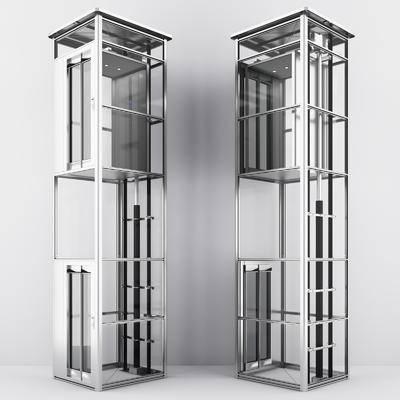 观光电梯, 升降电梯, 现代