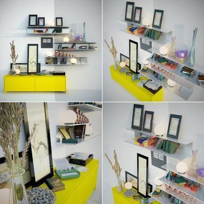 摆件组合, 矮柜, 边柜, 装饰柜, 摆件, 装饰品, 现代摆件组合, 现代矮柜, 相框, 现代, 双十一