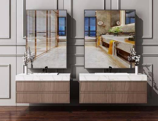 卫浴柜, 洗面盆, 洗手台, 卫浴组合