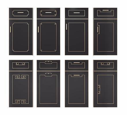 橱柜门板, 门板组合, 平开门, 新中式