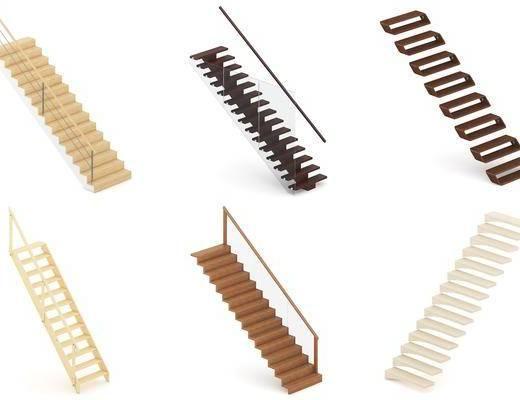 现代楼梯组合, 楼梯, 现代