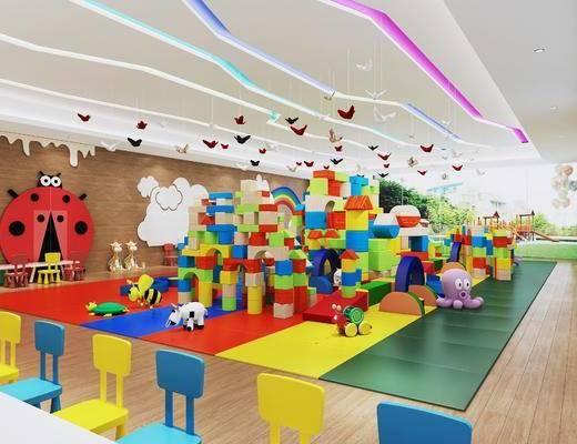 幼儿园, 墙饰, 玩具