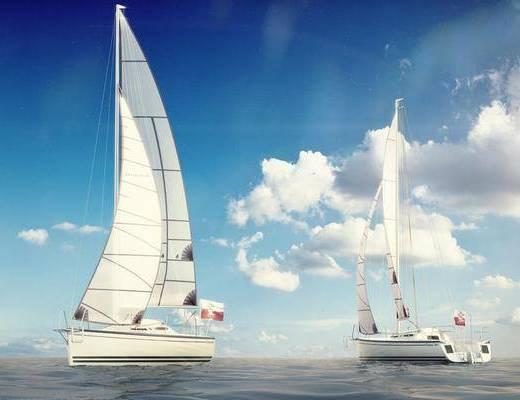 帆船, 船, 现代